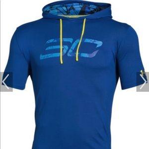 UA: Steph Curry hooded basketball shirt ((XL)